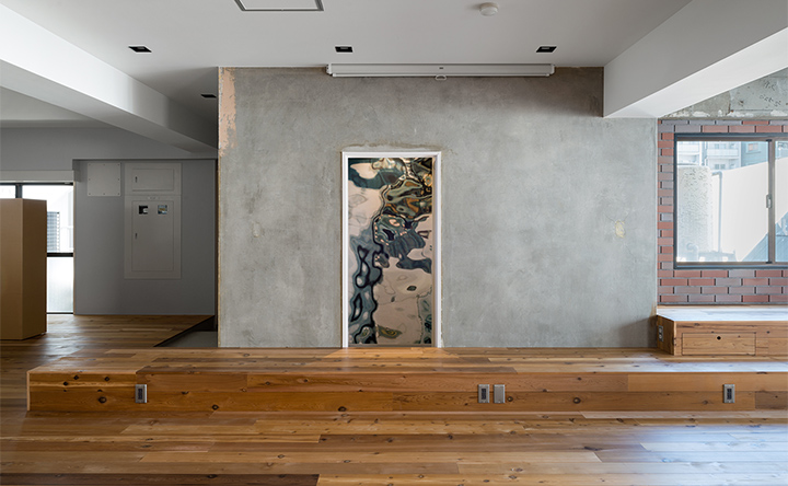 アートな空間には、そこかしこにひと工夫